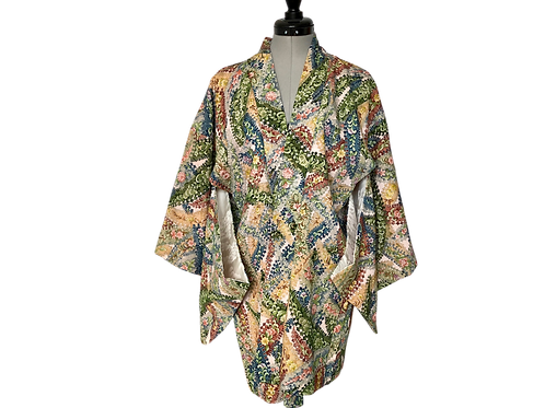 KUREJI, VINTAGE HAORI in Silk