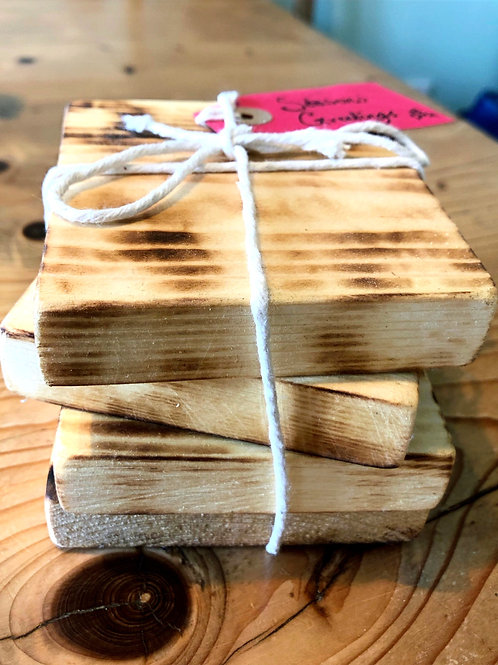 Hand Crafted Pine Coasters