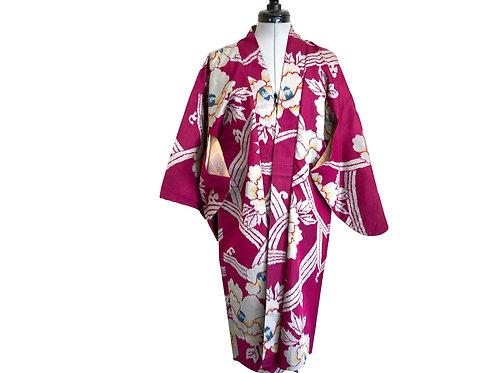 CAMELLIA MEISENAntique Japanese Silk Haori Kimono Jacket