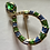 Thumbnail: Crystal Enamel Coiled Serpent Brooch