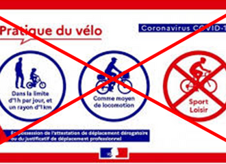 FIN DU CONFINEMENT POUR LES CYCLISTES !