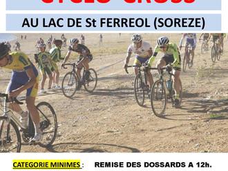 Le SVC organise un cyclo-cross au lac de St Ferréol le 5 novembre
