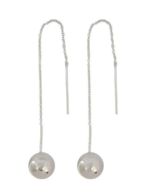 Ball Thread Earrings in 925 Sterling Silver