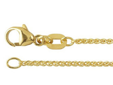9ct Yellow Gold 50cm Wheat Style Chain