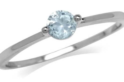 0.34ctw Natural Topaz Ring in 925 Sterling Silver