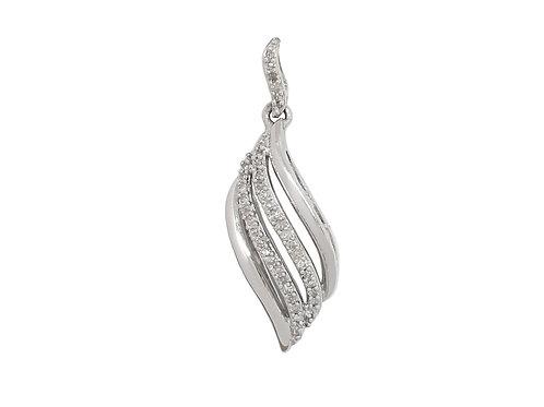 0.15ctw Diamond Pendant in 10kt White Gold