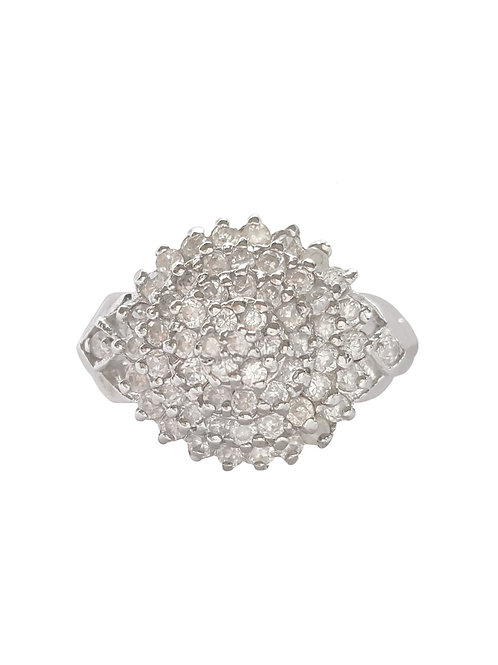 CZ Cluster Ring in Sterling Silver