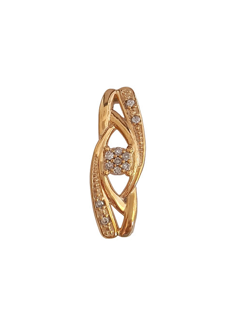 0.15ctw Diamond Entwined Pendant in 10k Yellow Gold