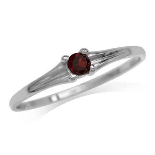 0.15ctw Natural Garnet Ring in 925 Sterling Silver