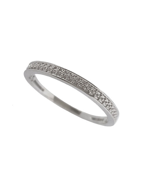 925 Sterling Silver Pave Band