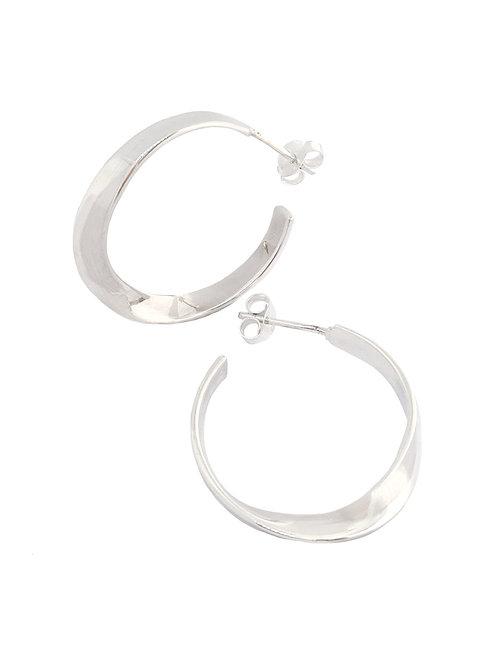 25mm Twisted Hoop Style Earrings in 925 Sterling Silver