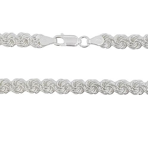 50cm 925 Sterling Silver Rosetta Style Chain