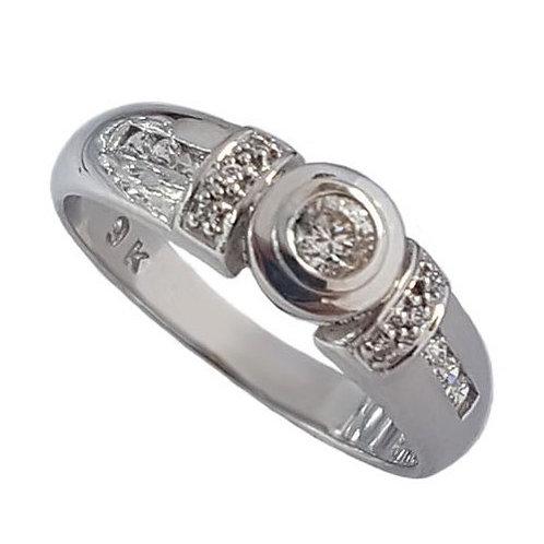 0.28ctw CZ 9ct White Gold Ring