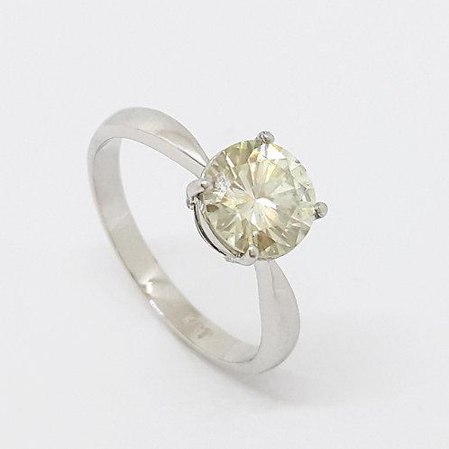 *CD DESIGNER* 1.624ct Moissanite Ring in 9K White Gold