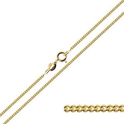 50cm 9ct Yellow Gold Curb Chain
