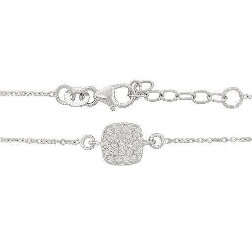 0.12ct Clear Cubic Zirconia Bracelet in 925 Sterling Silver