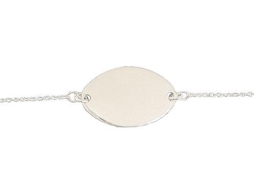 18.5cm ID Plate Bracelet in 925 Sterling Silver