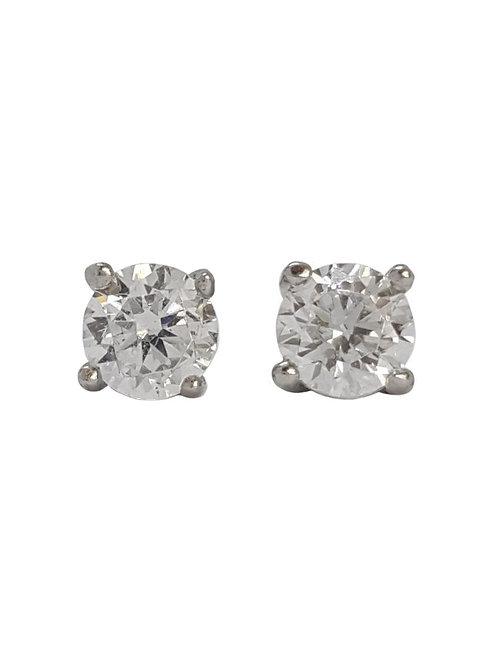 *CD DESIGNER* 0.36ctw CZ stud earrings in Sterling Silver