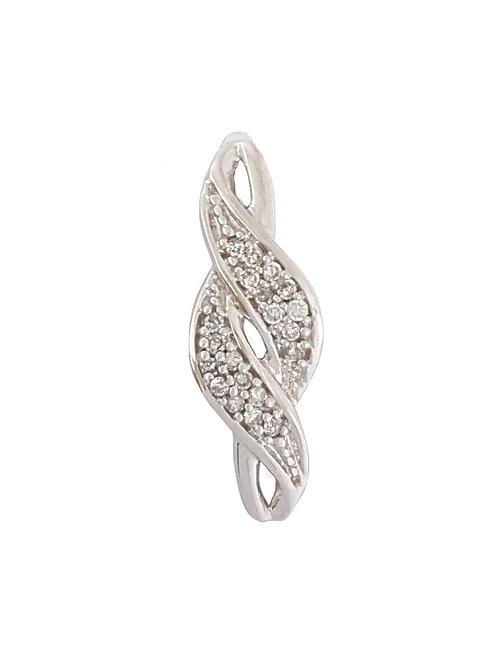 0.15ct Diamond Infinity Pendant in 10K White Gold