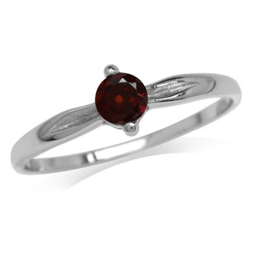 0.36ct Natural Garnet Ring in 925 Sterling Silver-