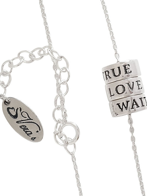 True Love Waits Necklace in Sterling Silver