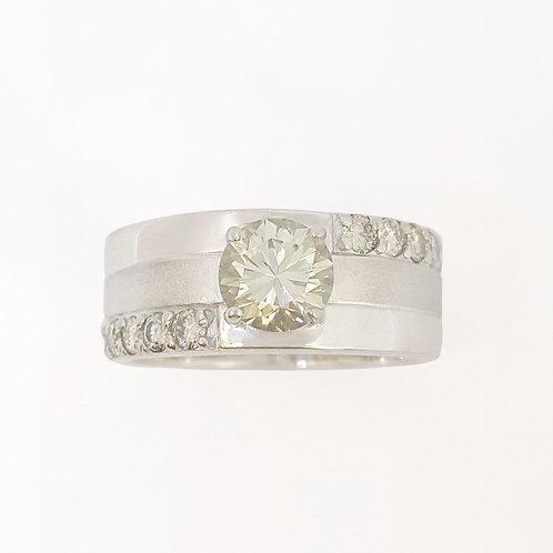 *CD DESIGNER* 1.077ct Moissanite Ring in 925 Sterling Silver