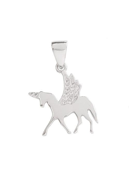 Unicorn Pendant in 925 Sterling Silver