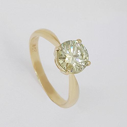 *CD DESIGNER* 1.623ct Moissanite Ring in 9K Yellow Gold