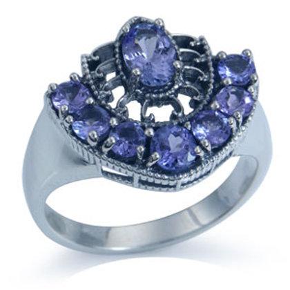 1.58ct Natural Tanzanite Filigree Ring