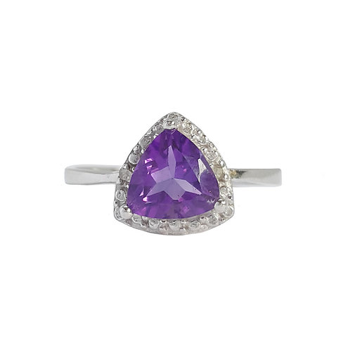 1.5ctw Natural Amethyst Ring in 925 Sterling Silver