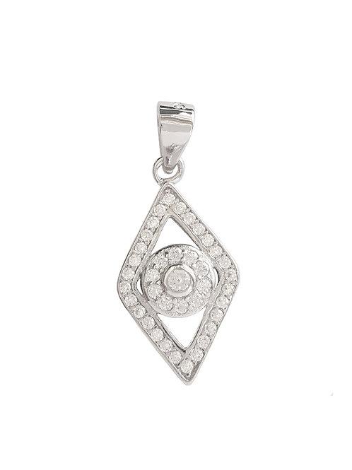 Evil Eye Pendant in 925 Sterling Silver