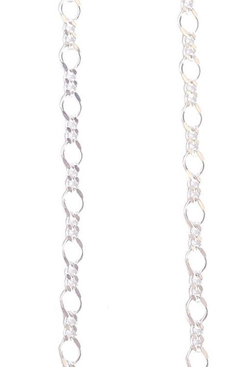 925 Sterling Silver 50cm Figaro Necklace