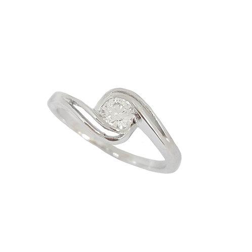 Split Band Twist Tube set Ring in 925 Sterling Silver