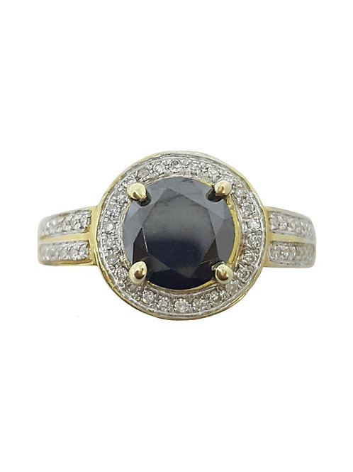 1.40ct Black Diamond 14k Yellow Gold Ring
