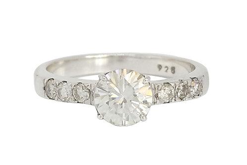 *CD DESIGNER* 0.941ct Moissanite & Diamond Ring