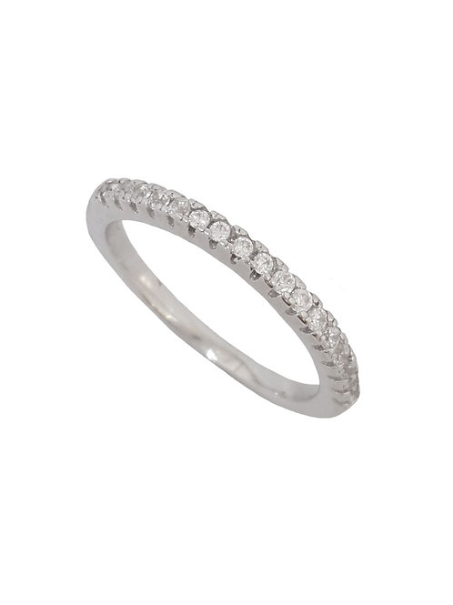 Cubic Zirconia Eternity Band in 925 Sterling Silver