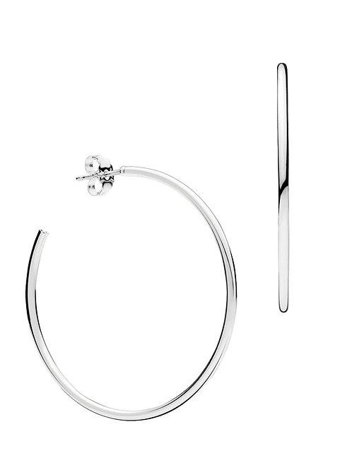 925 Sterling Silver 65mm Hoop Earrings
