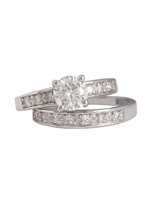 *CD DESIGNER* 1ctw Solitaire Set in Sterling Silver