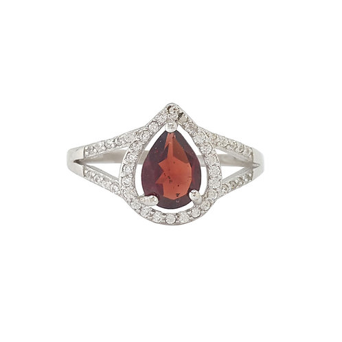 1.25ctw Garnet and Sapphire Ring in 925 Sterling Silver