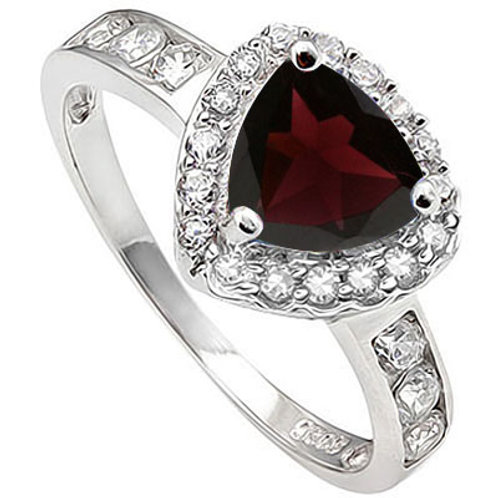 1.57ctw Garnet and Sapphire Ring in 925 Sterling Silver- Size 7