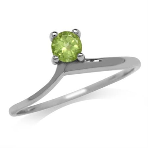 0.27ct Natural Peridot Ring in 925 Sterling Silver