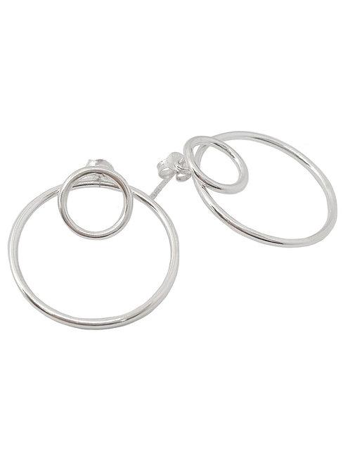 25mm Double Hoop style Earring in 925 Sterling Silver