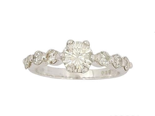 *CD DESIGNER* 0.848ct Moissanite and Diamond Ring in 925 Sterling Silver