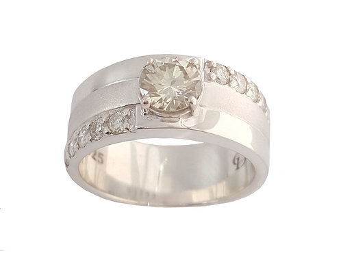 *CD DESIGNER* 1.074ct Moissanite Ring in 925 Sterling Silver