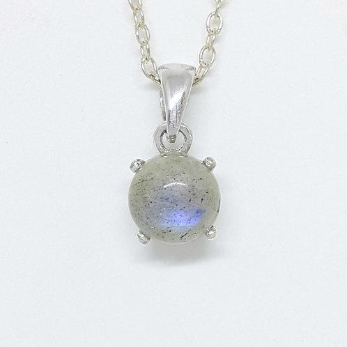 0.9 ct Natural Labradorite Pendant in 925 Sterling Silver