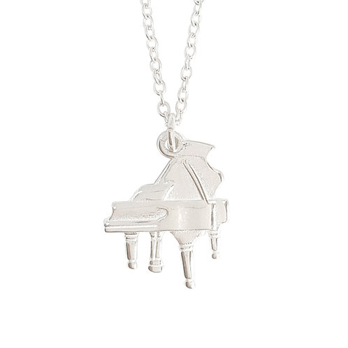 Piano Charm in 925 Sterling Silver