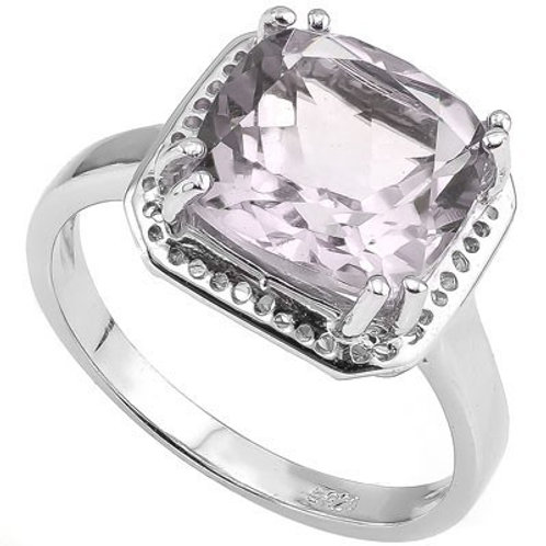 4.00ct Amethyst Ring in 925 Sterling Silver- Size 7