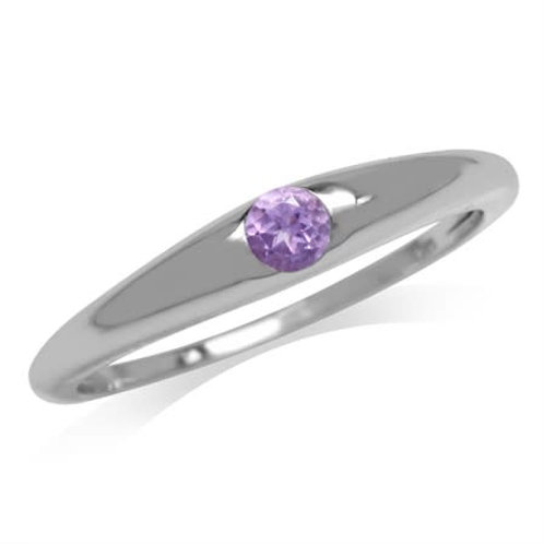 0.10ct Amethyst Ring in 925 Sterling Silver