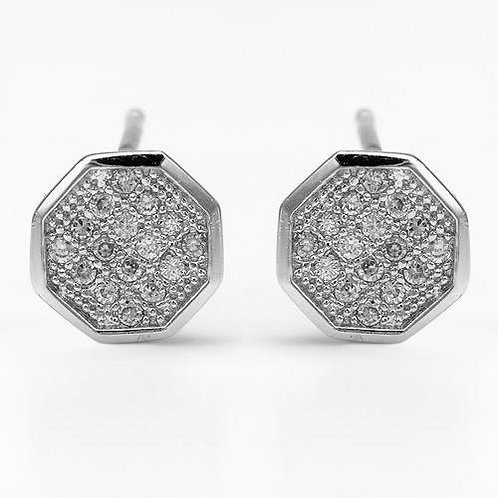 Cluster Set CZ Studs in 925 Sterling Silver