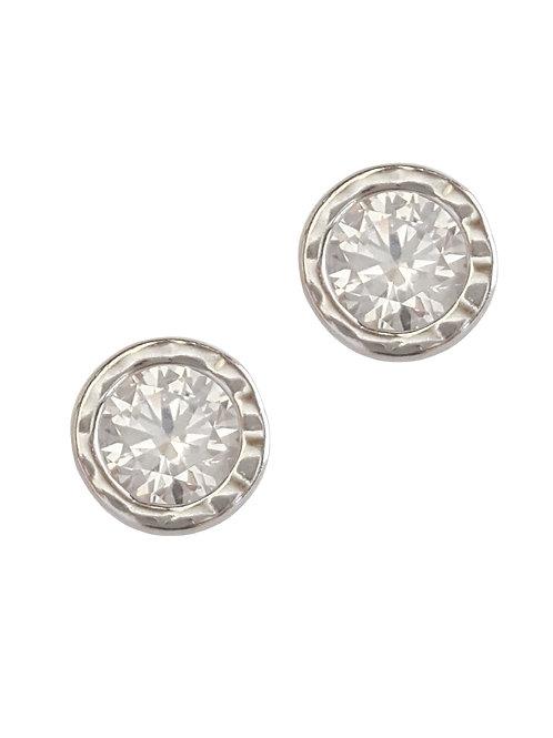 0.70ctw Clear CZ Stud Earrings in 925 Sterling Silver